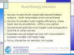 rural energy solutions