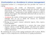 c onfrontation vs a voidance in stress management