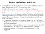 c oping mechanisms and stress