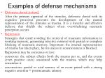 e xamples of defense mechanisms
