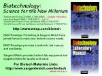 biotechnology science for the new millenium