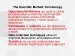 the scientific method terminology