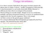 gauge invariance