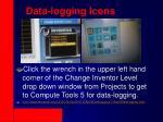 data logging icons