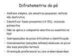 difratometria do p