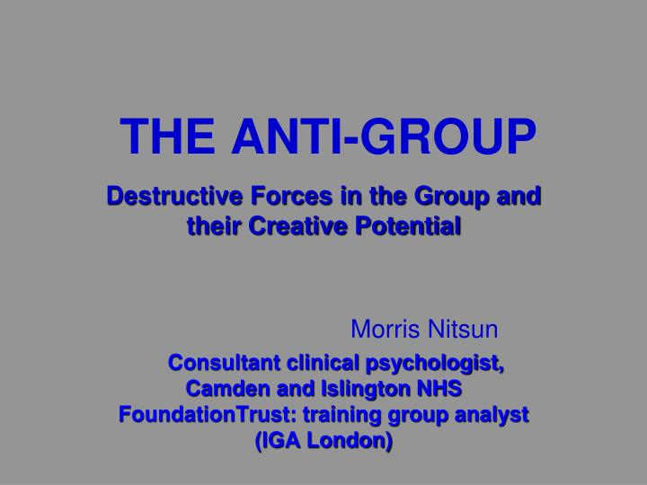 the anti group n.