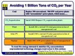 avoiding 1 billion tons of co 2 per year