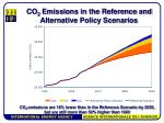 co 2 emissions in the reference and alternative policy scenarios