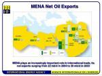 mena net oil exports