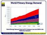 world primary energy demand