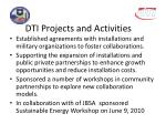 dti projects and activities