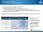 downgrade rights microsoft dynamics crm 1 2 customers