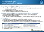 downgrade rights microsoft dynamics crm 3 0 customers