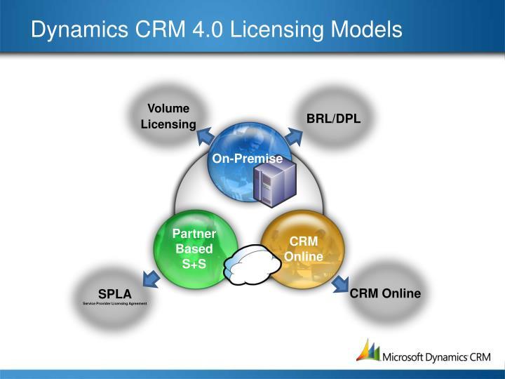 Dynamics crm 4 0 licensing models