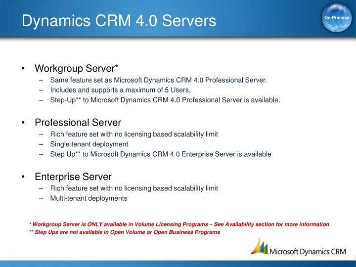 Dynamics CRM 4.0 Servers