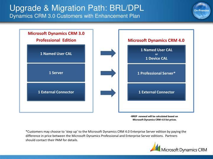Upgrade & Migration Path: BRL/DPL