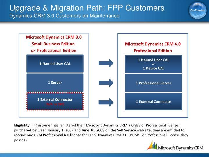 Upgrade & Migration Path: FPP Customers