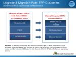 upgrade migration path fpp customers dynamics crm 3 0 customers on maintenance