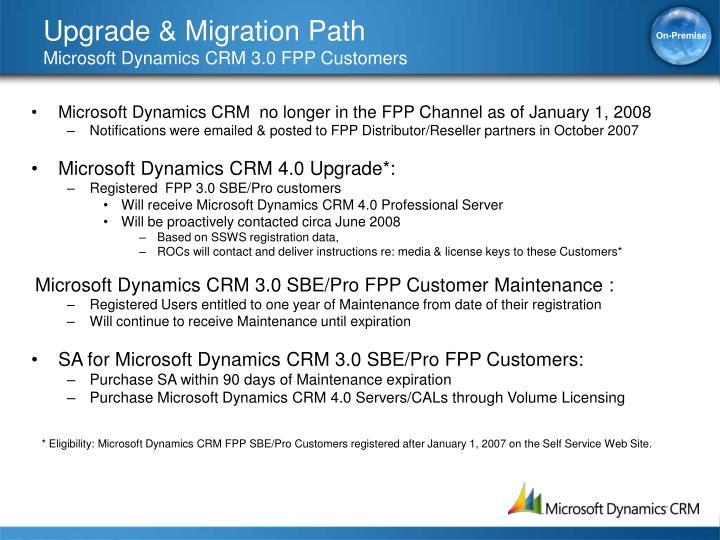 Upgrade & Migration Path