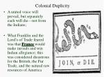 colonial duplicity1