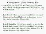 consequences of the ensuing war