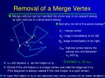 removal of a merge vertex