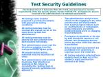 test security guidelines