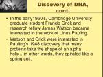 discovery of dna cont