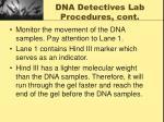 dna detectives lab procedures cont8