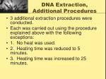 dna extraction additional procedures