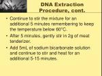 dna extraction procedure cont2