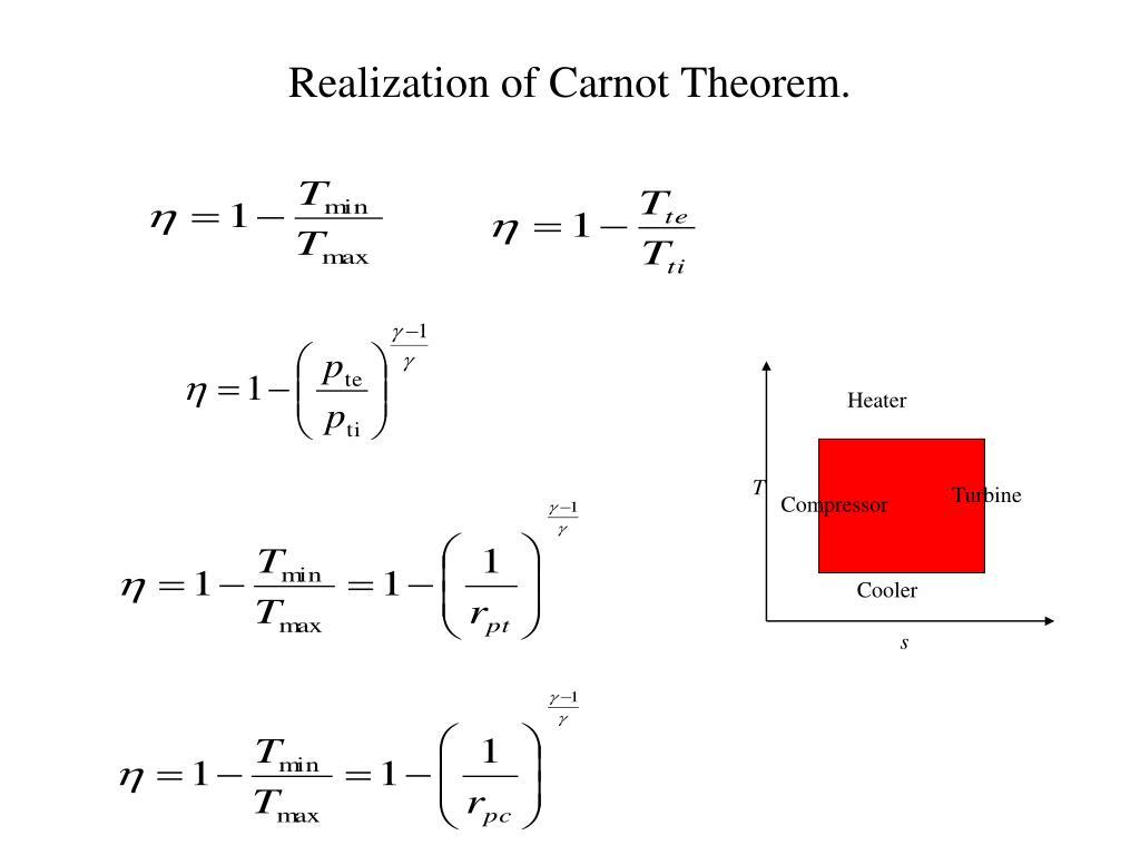Realization of Carnot Theorem.
