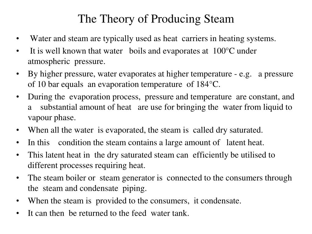 The Theory of Producing Steam