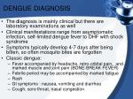 dengue diagnosis
