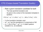 ctq corpus based translation quality