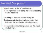 nominal compound