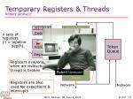 temporary registers threads robert iannucci