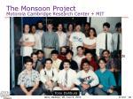 the monsoon project motorola cambridge research center mit