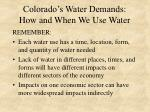 colorado s water demands how and when we use water1