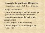 drought impact and response examples from 1976 1977 drought