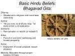 basic hindu beliefs bhagavad gita