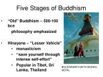 five stages of buddhism