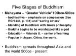 five stages of buddhism1