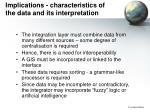 implications characteristics of the data and its interpretation