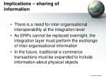 implications sharing of information