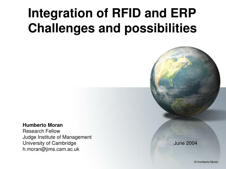 integration of rfid and erp challenges and possibilities n.