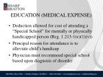 education medical expense