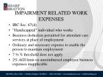 impairment related work expenses