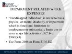 impairment related work expenses1