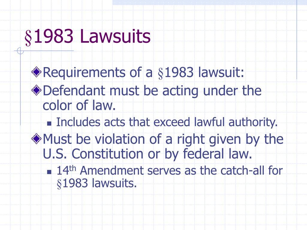 §1983 Lawsuits